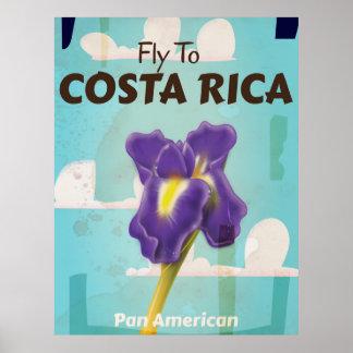 Poster clásico del viaje del vintage de Costa Rica