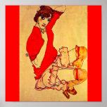 Poster-Clásico/Vintage-Egon Schiele 38