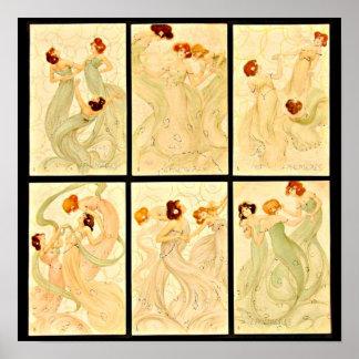 Poster-Clásico/Vintage-Raphael Kirchner 29 Póster