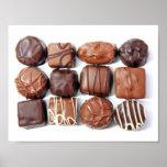 Poster clasificado de los chocolates