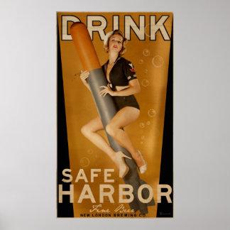 """Poster clasificado """"sumo"""" del torpedo de la cervez"""