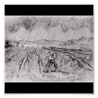 Poster-Classic Art-Van Gogh-Sower in the Rain Poster