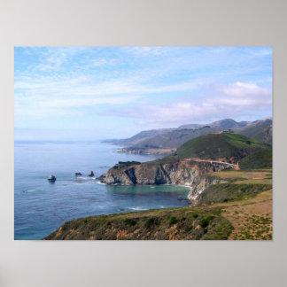 Poster - Coastline near Big Sur
