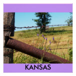 Poster/colinas de Kansas/del pedernal