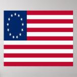 Poster colonial de la bandera americana