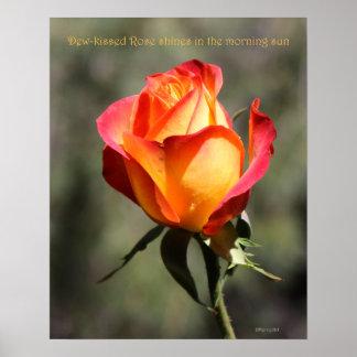 poster color de rosa Rocío-besado 16x20 SUBIÓ y PR