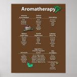 Poster coloreado café de la carta del Aromatherapy
