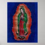 Poster coloreado Guadalupe del arte del lápiz de V
