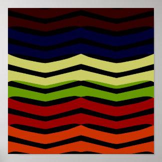 Poster coloreado multi