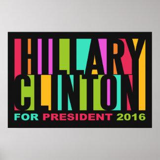 Poster colorido 2016 de Hillary Clinton