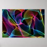 Poster colorido abstracto
