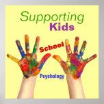 Poster colorido de la psicología de la escuela