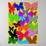 Poster colorido de las mariposas