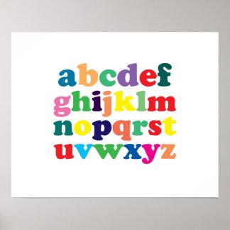 Poster colorido del alfabeto