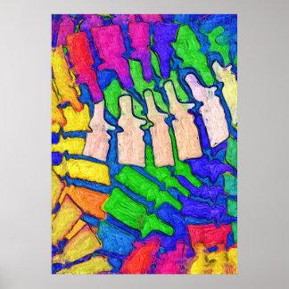 Poster colorido del arte de la espina dorsal