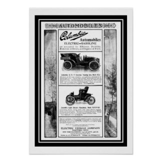 Poster Columbia Car 1903 Advertisement