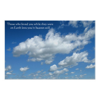 Poster - comfort and hope to bereaved