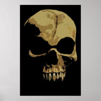 Poster cómico del cráneo
