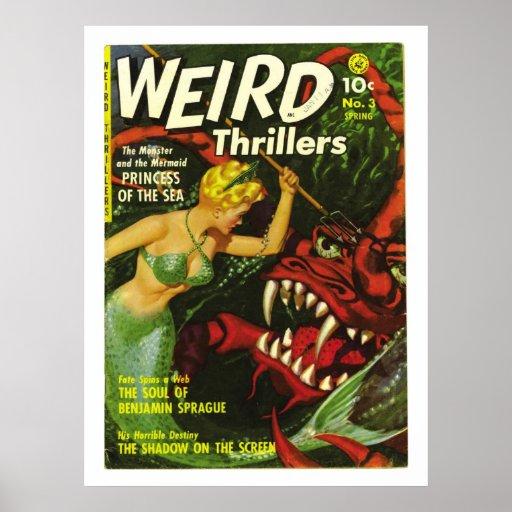 poster cómico del horror extraño de las novelas de