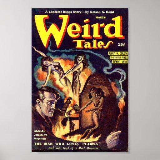 Poster cómico marzo de los cuentos extraños