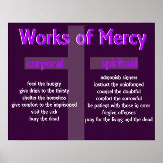 Poster compasivo del cristiano de los trabajos