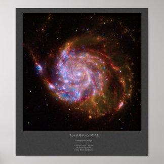 Poster compuesto de la imagen de la galaxia espira