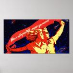 Poster comunista de la propaganda del vintage ruso
