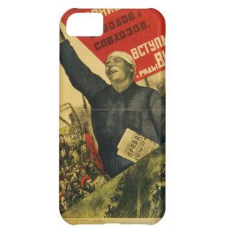 Poster comunista de la propaganda del vintage ruso funda para iPhone 5C