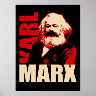 Poster comunista/socialista del retrato de Karl