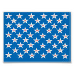 Poster con 50 estados en estrellas