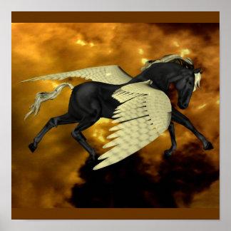 Poster con alas de oro   de Pegaso