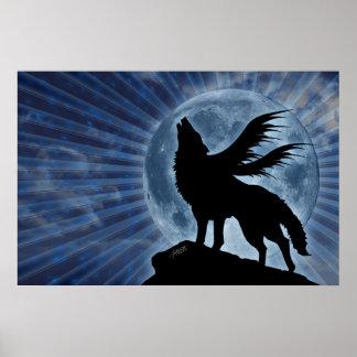 Poster con alas del lobo