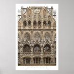 Poster con arquitectura gótica del renacimiento