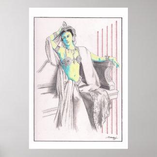 Poster con el arte original de Mata Hari