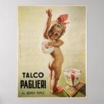 Poster con el bebé lindo en el poster del anuncio