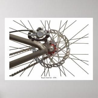 Poster con el eje de rueda de bicicleta