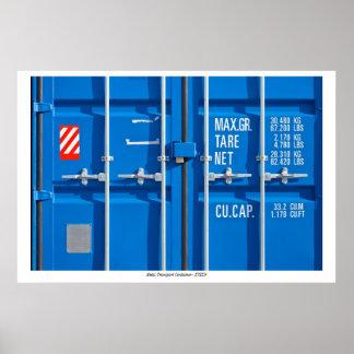 Poster con el envase de transporte