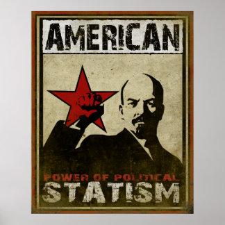 Poster con el mensaje de alerta político del estat