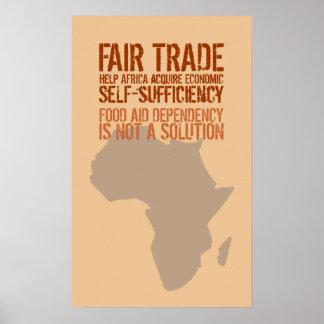Poster con el mensaje del comercio justo