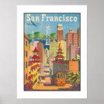 Poster con el motivo de San Francisco del vintage Póster