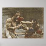 Poster con escena del boxeo del Ringside