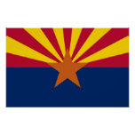 Poster con la bandera de Arizona, los E.E.U.U.
