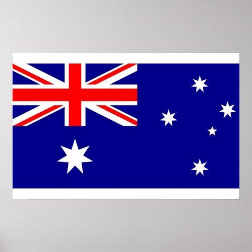 Poster con la bandera de Australia