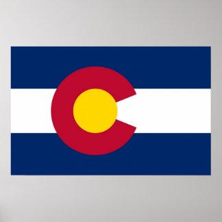 Poster con la bandera de Colorado, los E.E.U.U.