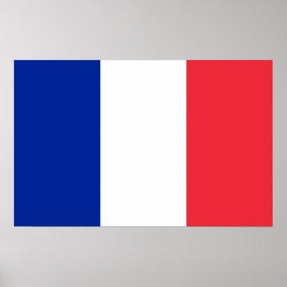 Poster con la bandera de Francia