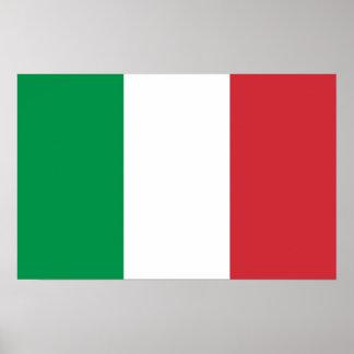 Poster con la bandera de Italia