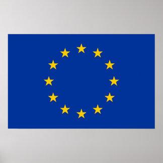 Poster con la bandera de la unión europea