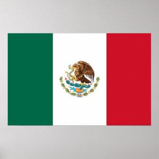 Poster con la bandera de México