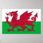 Poster con la bandera de País de Gales