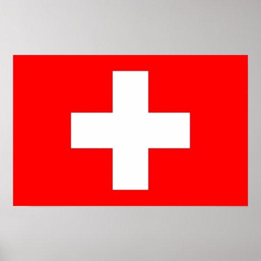 Poster con la bandera de Suiza